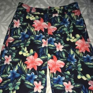 Boys Abercrombie Hawaiian Flowers Swim Trunks